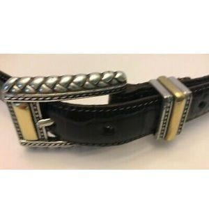 Brighton Brown Belt 44209 Croc Embossed Crafted
